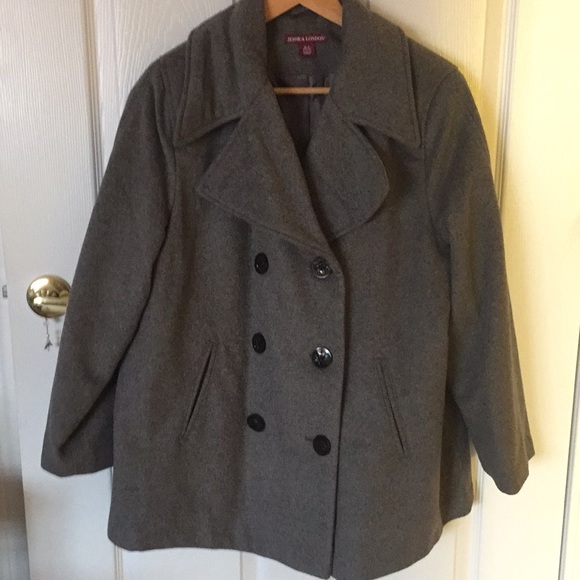 3f27e3a68c6 Never worn ladies pea jacket in gray. NWT. Jessica London